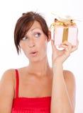 Woman present Stock Photography