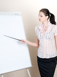 Woman with presentation Royalty Free Stock Images