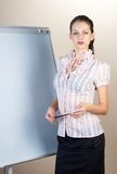 Woman with presentation Stock Photos