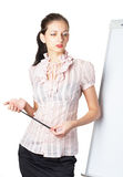 Woman with presentation Stock Image