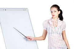 Woman with presentation Royalty Free Stock Photo