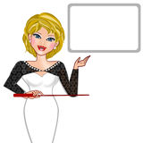 Woman presentation Royalty Free Stock Photography