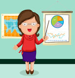 Woman presentation chart business Royalty Free Stock Photo