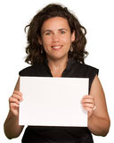 Woman presenting a blank sign Royalty Free Stock Photo
