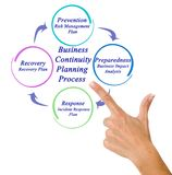 Business Continuity Planning Process. Woman presenting Business Continuity Planning Process stock images
