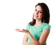 Woman presenting Stock Photography
