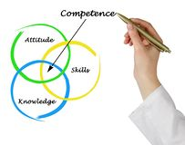 Diagram of competence. Woman presenting Diagram of competence royalty free stock photography
