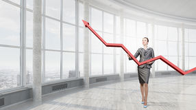 Woman presenting growth concept Royalty Free Stock Photography