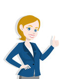 Woman presenting, making a gesture. Isolated on white background Vector Illustration