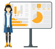 Woman presenting report. Royalty Free Stock Image