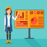 Woman presenting report. Stock Image