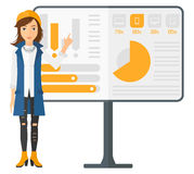 Woman presenting report Royalty Free Stock Images