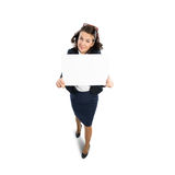 Woman presenting something Royalty Free Stock Photography