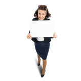 Woman presenting something Royalty Free Stock Photos