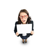 Woman presenting something Royalty Free Stock Photo