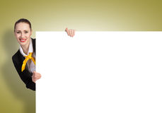 Woman presenting something Royalty Free Stock Images