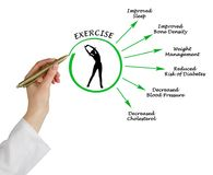 Usefulness of exercising. Woman presenting Usefulness of exercising Stock Photo