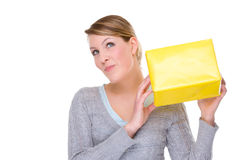 Woman with presents Royalty Free Stock Photos