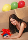 Woman with presents Royalty Free Stock Photo