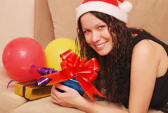 Woman with presents Stock Photography