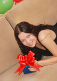 Woman with presents Royalty Free Stock Images