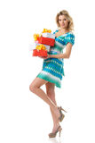 Woman with presents Stock Image