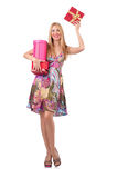 Woman with presents Royalty Free Stock Image
