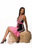 Woman in pretty dress Stock Image