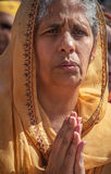 Woman Preying. Indian Women preying in Worship Stock Images