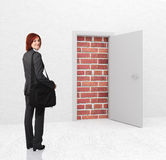 Woman and problem Royalty Free Stock Photography