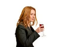 Woman with problem of alcoholism Royalty Free Stock Photo
