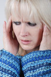 Woman with a problem Stock Photography