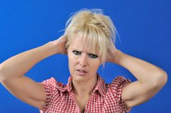 Woman with a problem Stock Image