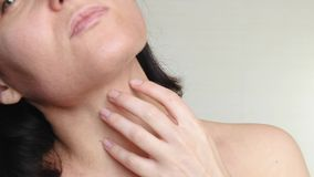 Woman with problem skin. The concept of care for problem skin, age-related changes and the impact of the environment on