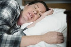 A woman with problem sleeping Royalty Free Stock Image