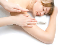 Woman on procedures Stock Images