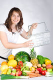 Woman with produce Royalty Free Stock Images