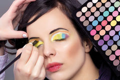 Woman professional make-up Royalty Free Stock Photography