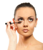 Woman with professional makeup Royalty Free Stock Photography