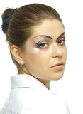 Woman with professional makeup Stock Photography