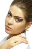 Woman with professional makeup Royalty Free Stock Image