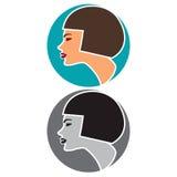 Woman profile concept Stock Images