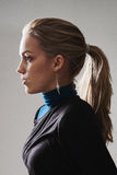 Woman profile with ponytail Royalty Free Stock Image