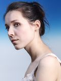 Woman Profile Portrait. Royalty Free Stock Photography