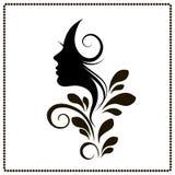 Woman profile style salon silhouette Stock Photos