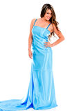 Woman in a prom dress Stock Image