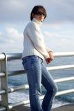 Woman in promenade Stock Image