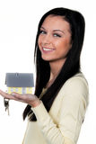 Woman with property Royalty Free Stock Photo