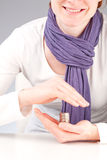 Woman protecting money - investment Stock Photography