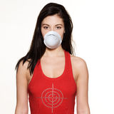 Woman protection mask Royalty Free Stock Photo